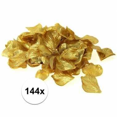 Luxe goudgele rozenblaadjes 144 stuks