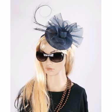 Luxe grote navy hoed voor dames