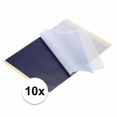Luxe hobby overtrekpapier 10 stuks