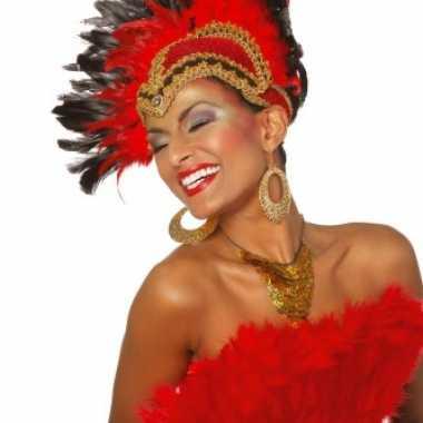 Luxe hoofdtooi rood voor dames