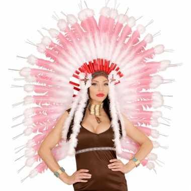 Luxe indiaanse hoofdtooien roze