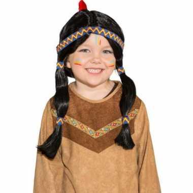 Luxe indianenpruik met staarten voor kids