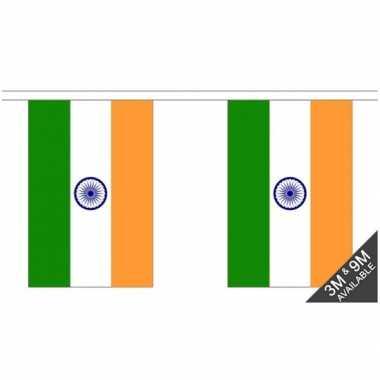 Luxe indiase vlaggenlijn 3 meter