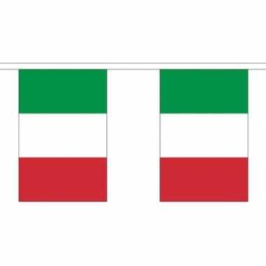 Luxe italiaanse vlaggenlijn 3 meter