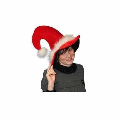 Luxe kersthoed van pluche