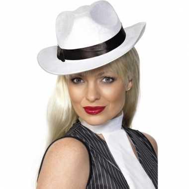 Luxe mafia hoed wit