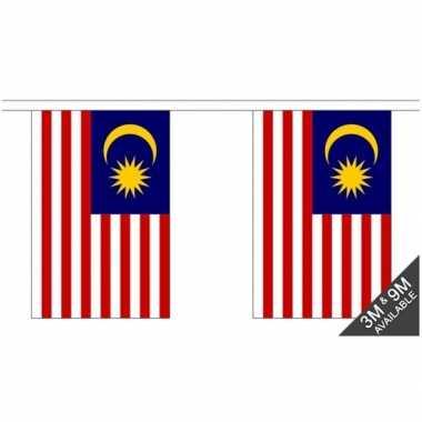 Luxe maleisische vlaggenlijn 3 meter
