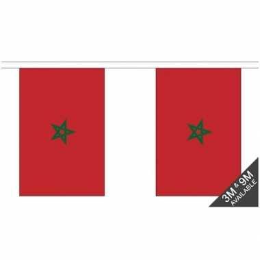 Luxe marokkaanse vlaggenlijn 3 meter
