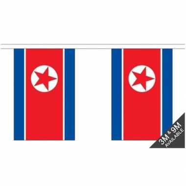 Luxe noord koreaanse vlaggenlijn 3 meter
