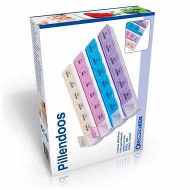 Luxe pillen verdeelbox 7 daags met 28 vakjes
