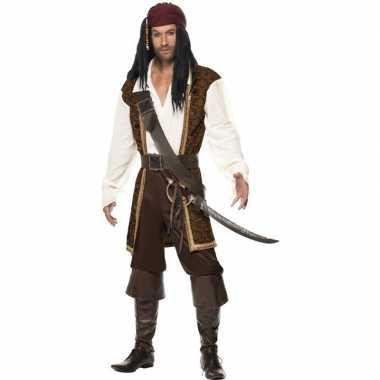 Luxe piraten kostuum voor heren