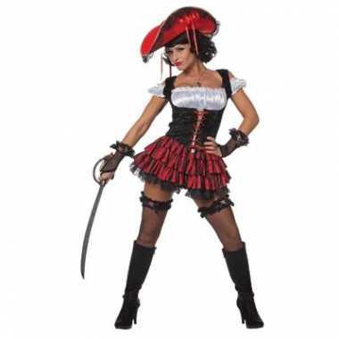 Luxe piraten outfit voor vrouwen