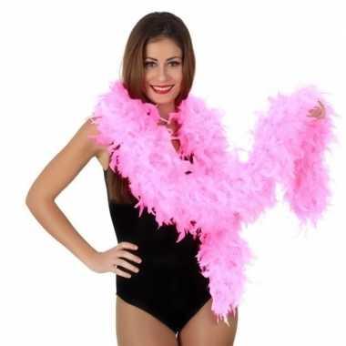 Luxe roze boa 180 cm