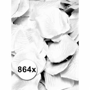Luxe rozenblaadjes wit 6 zakjes