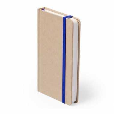 Luxe schrift blauw elastiek a6 formaat