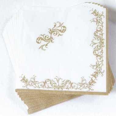 Luxe servetten met gouden versiering