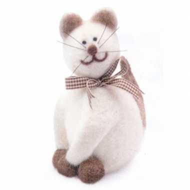 Maak je eigen kat van vilt hobby set pakket