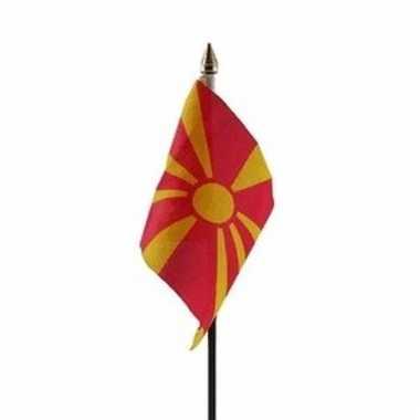 Macedonische landenvlag op stokje