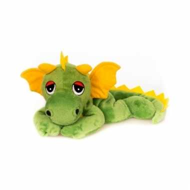Magnetron groen draken knuffeldier 18 cm