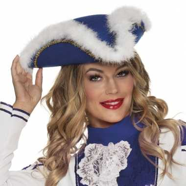 Majorette blauwe hoed voor dames