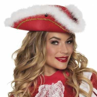 Majorette rode hoed voor dames