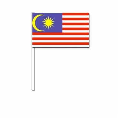 Maleisie zwaai vlaggetjes 12 x 24 cm