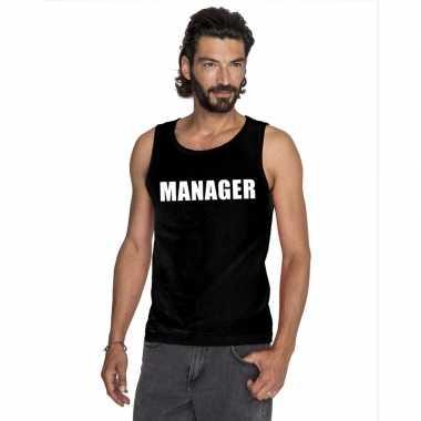 Manager singlet zwart heren