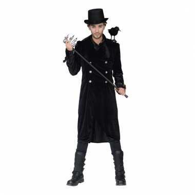Mannen verkleed jas gothic met gespen
