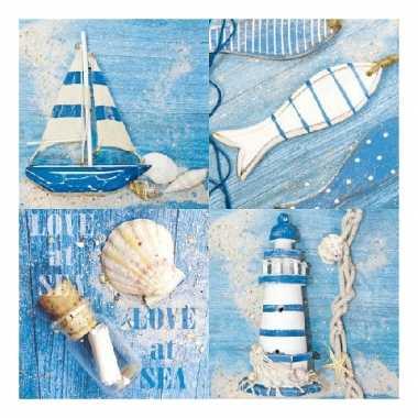 Marine thema servetten met zeilboot
