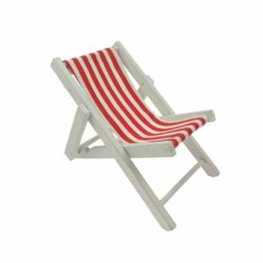 Maritieme decoratie strandstoel rood
