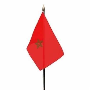 Marokkaanse landenvlag op stokje