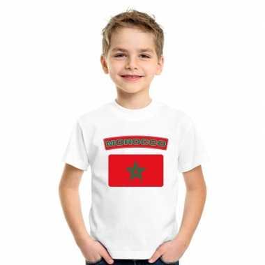 Marokkaanse vlag kinder shirt wit