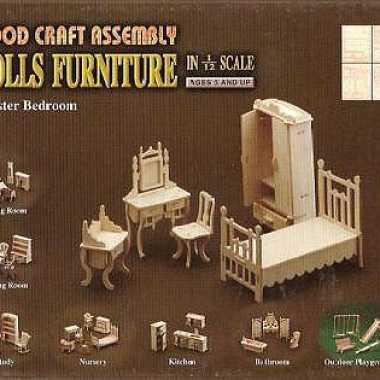 Master bedroom meubels poppenhuis