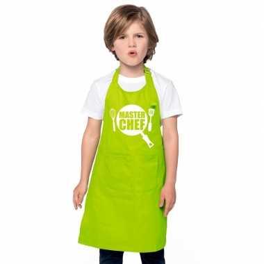 Master chef kinderschort lime groen jongens en meisjes