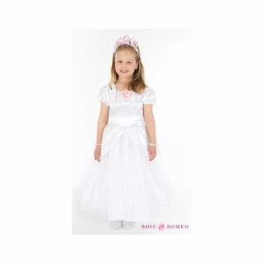 Meiden communiekleding witte jurk
