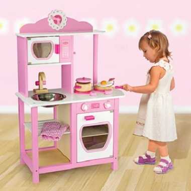 Meisje speelgoed keukentje