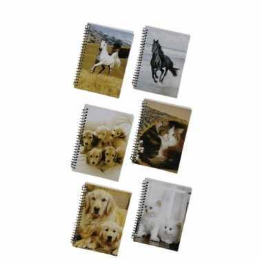 Memo boekje a6 golden retriever pupies