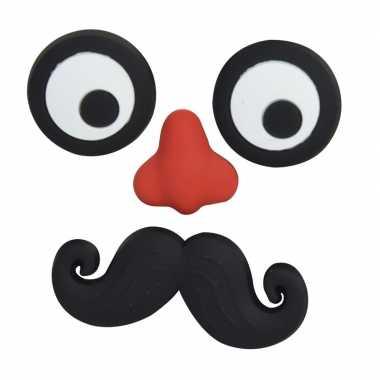 Memo magneten set gezicht met snor