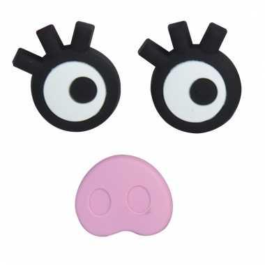 Memo magneten set varkens gezicht 3 stuks