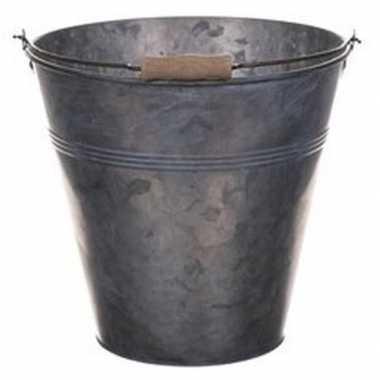 Metalen drankemmer/drankkoeler grijs 7 liter
