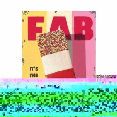 Metalen ijscoman/ijswinkel reclamebord fab 15 x 20