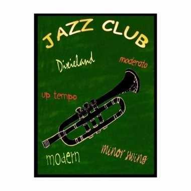 Metalen muurplaatje jazz club 30 x 40 cm