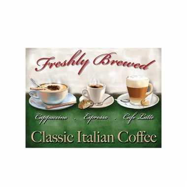 Metalen reclamebord classic coffee