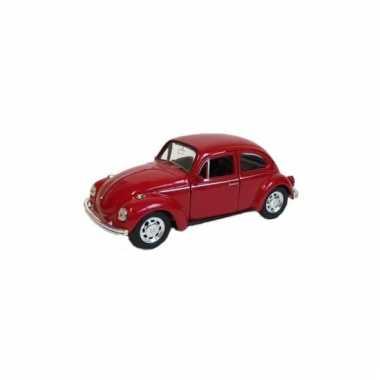 Metalen rode volkswagen beetle auto schaal 1:39