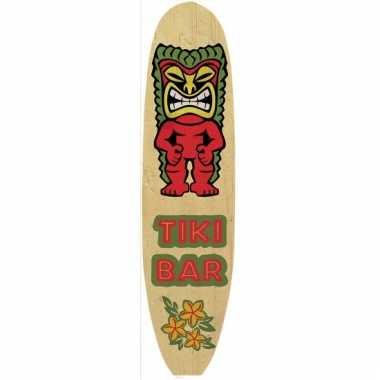 Metalen surfboard tropical bar
