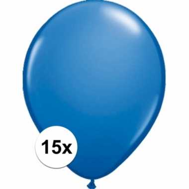 Metallic blauwe ballonnetjes 15 stuks