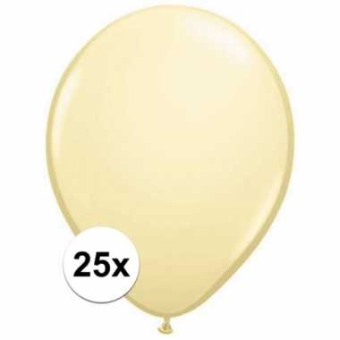 Metallic ivoren ballonnetjes 25 stuks