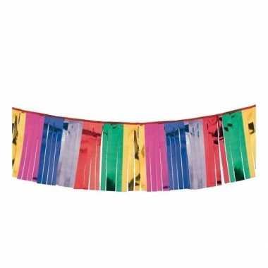 Metallic kleuren wand slingers 4 meter