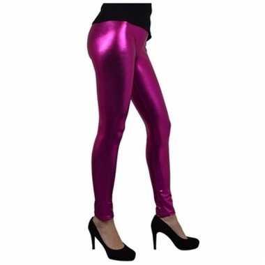 Metallic roze legging voor dames