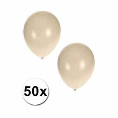 Metallic witte ballonnen 36 cm